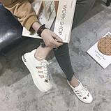Белые недорогие летние кроссовки, фото 2