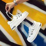 Белые недорогие летние кроссовки, фото 3