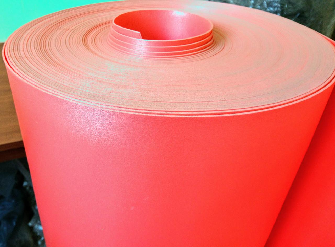 Цветной Изолон ППЭ 3002;полотно-2мм цветной ЯРКО КРАСНЫЙ