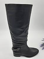 Сапоги женские Dali Fashion черный 92-16-32 кожа 35(р)