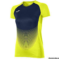 Футболка женская Joma ELITE VI 900641.063 желто-т.синяя