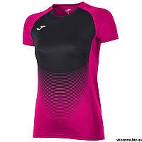 Футболка женская Joma ELITE VI 900641.501 розово-черная