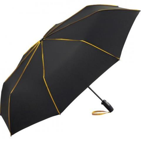"""Зонт мини автомат """"FARE® Seam"""", ф104 см, черный/оранжевый"""
