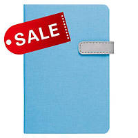 Блокнот 11,5х16,5 блок: чистий лист LAUR, голубой
