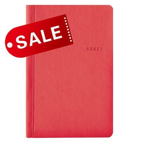 Блокнот 11х16,5 блок: чистий лист ANDRE, красный