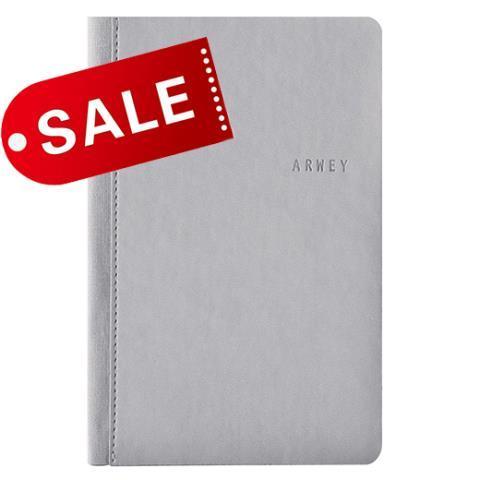 Блокнот 11х16,5 блок: чистий лист ANDRE, серый