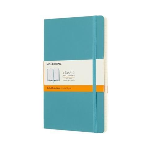 Блокнот CLASSIC мягкая обложка, Large, линия, 192 стр, reef blue
