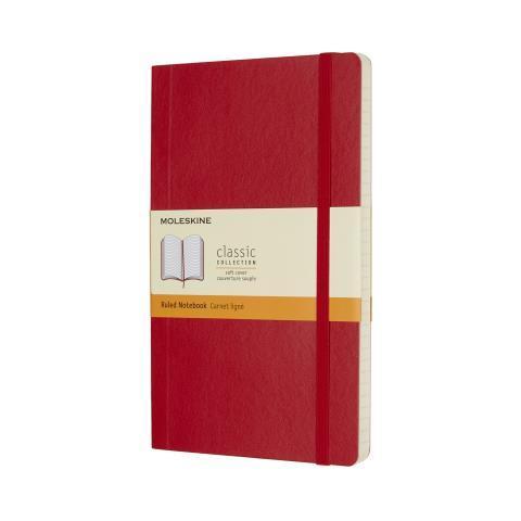Блокнот CLASSIC мягкая обложка, Large, линия, 192 стр, scarlett red