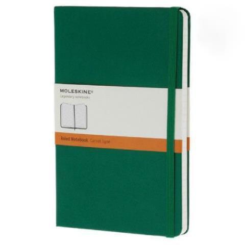 Блокнот CLASSIC твердая обложка, Large, линия, 240 стр, oxide green