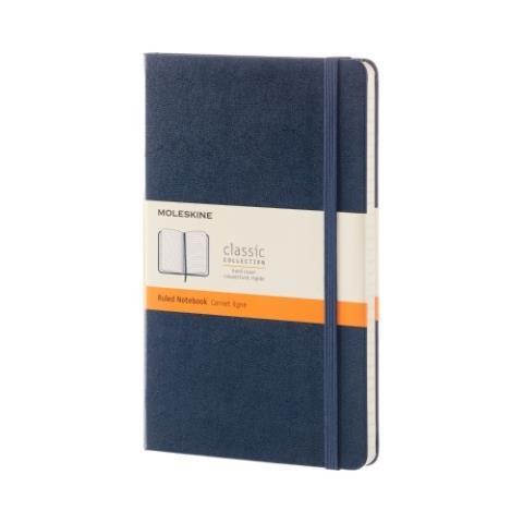 Блокнот CLASSIC твердая обложка, Large, линия, 240 стр, sapphire blue