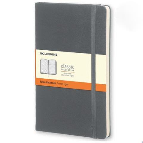Блокнот CLASSIC твердая обложка, Large, линия, 240 стр, slate grey