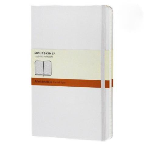 Блокнот CLASSIC твердая обложка, Large, линия, 240 стр, белый