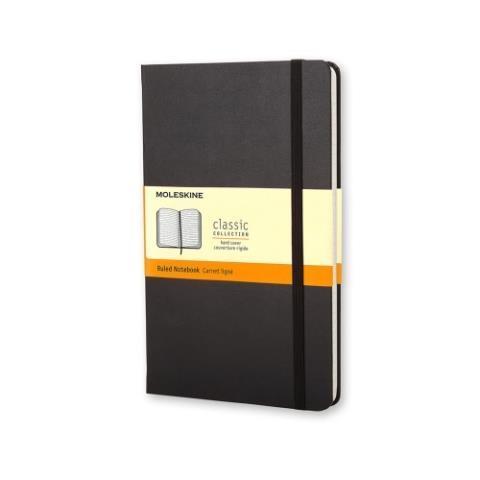 Блокнот CLASSIC твердая обложка, Pocket, линия, 192 стр, черный