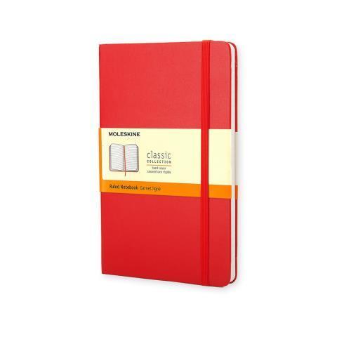 Блокнот CLASSIC твердая обложка, Large, линия, 240 стр, red