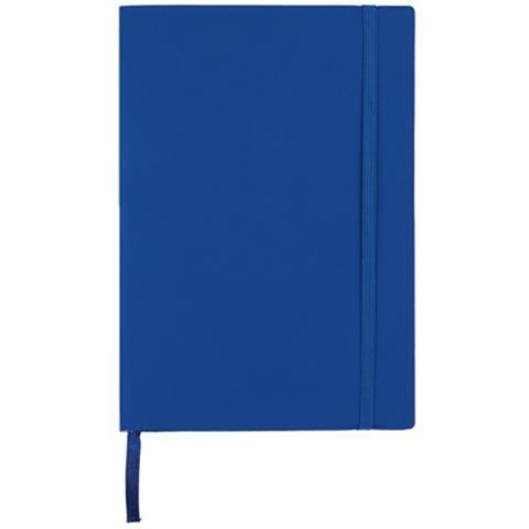 Блокнот деловой А5, 96л., линия, обложка искусственная кожа, темно синий