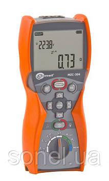 Сертифікований вимірювач параметрів ланцюгів «фаза-нуль» і «фаза-фаза» електромереж MZC-304UA
