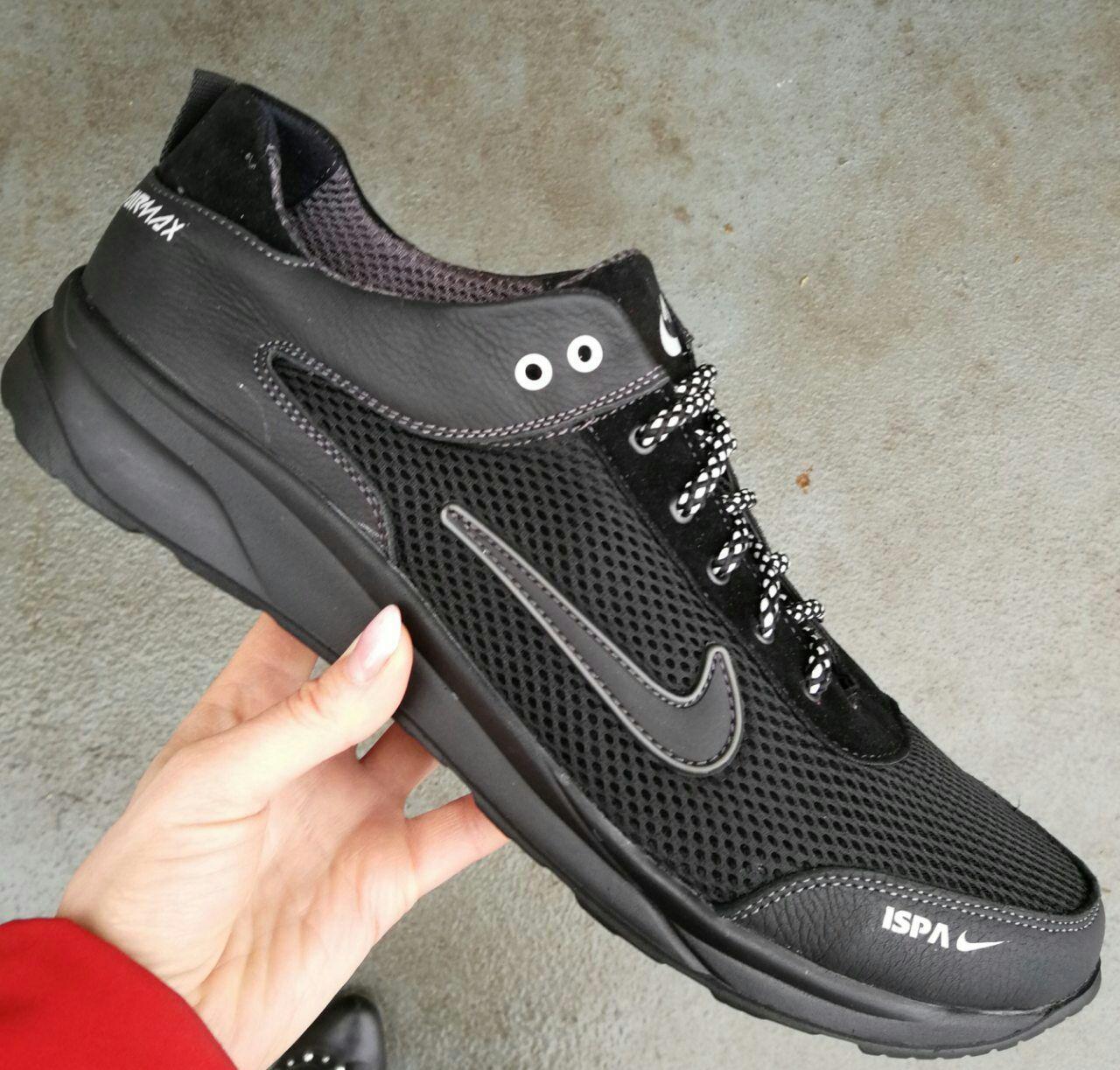 a14789fb4a1201 Чоловічі кросівки великого розміру літні сітка сірі Найк гіганти батальна  серія Nike Big