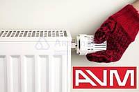 Радиатор стальной нижнее подключение 22VC 500х500 AVM