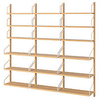IKEA SVALNAS Настенный стеллаж, бамбук  (291.844.33), фото 1