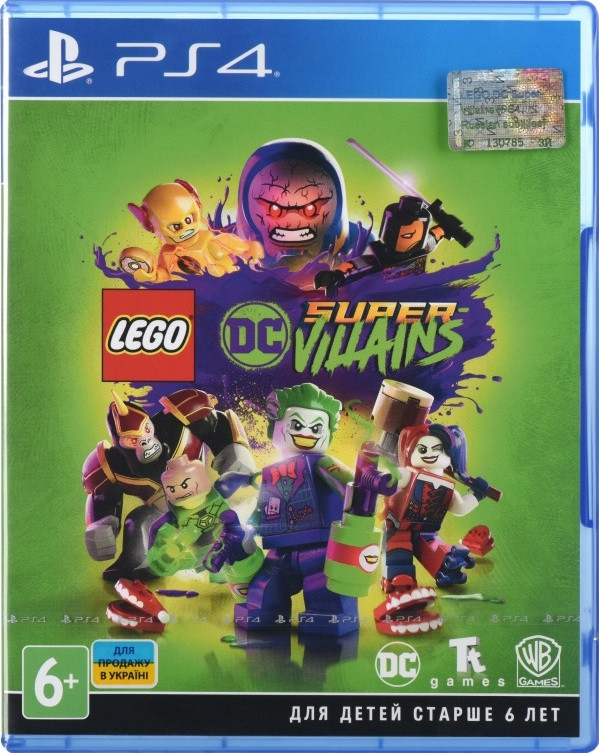Диск LEGO DC Super-Villains (Blu-ray, Russian version) для PS4