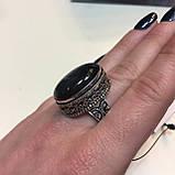 Красивое кольцо лабрадор в серебре. Кольцо овал с лабрадором 19 размер Индия!, фото 4