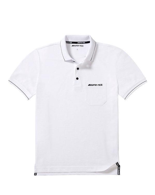 Чоловіча футболка поло Mercedes-Benz Men's Polo Shirt, White / Red details, (B66956739)