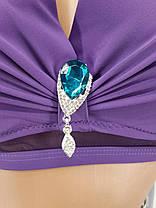 Купальник на велику груди фіолетовий 5152 на 48 50 52 54 56 розміри., фото 2