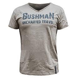 "Футболка мужская, милитари ""BUSHMAN"" Хаки, размер S"