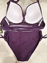 Купальник на велику груди фіолетовий 5152 на 48 50 52 54 56 розміри., фото 3