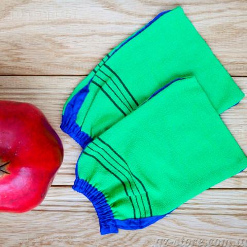 Кессы - рукавички для массажа и пилинга тела - средняя жесткость - 02