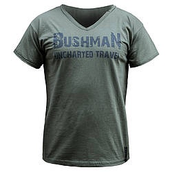 "Футболка мужская ""BUSHMAN"" Олива, размер S"