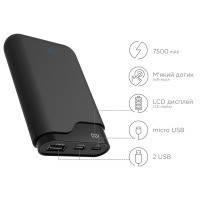 Портативная батарея ERGO LI-U3 TYPE-C, 7500 mAh Black