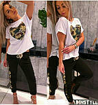 Женский стильный костюм с карманом из пайетки (в расцветках), фото 3