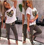Женский стильный костюм с карманом из пайетки (в расцветках), фото 4