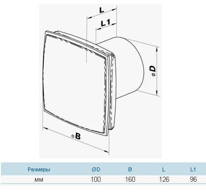 Бытовой вентилятор Вентс 100 ЛДА, фото 2