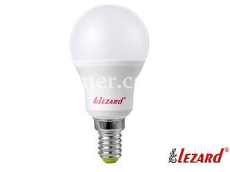 Лампа светодиодная шарик A45 7W 2700 E14 220V LEZARD