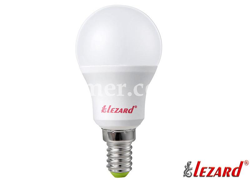 Лампа светодиодная шарик A45 5W 4200K E14 220V LEZARD