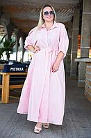 Длинное женское платье рубашка, с 50-64 размер, фото 1