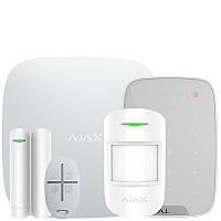 Ajax StarterKit + KeyPad – Комплект беспроводной сигнализации AJAX с клавиатурой – белый