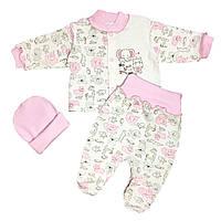 Детский комплект для девочки Розовый с слоником (6135-083)