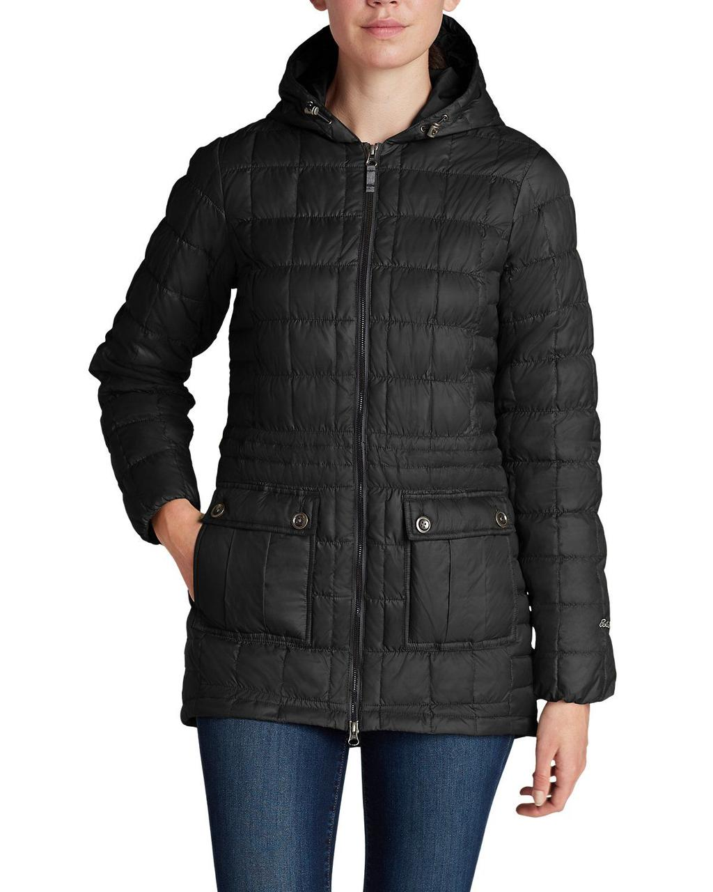 Женский пуховик Eddie Bauer Women Super Sweater Down Parka CARBON