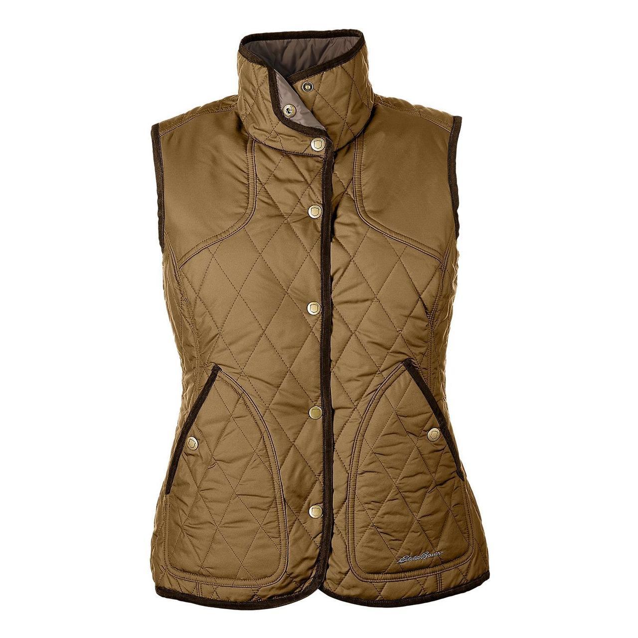 Жилетка женская дутая Eddie Bauer Womens Year-Round Field Vest AGED BRASS
