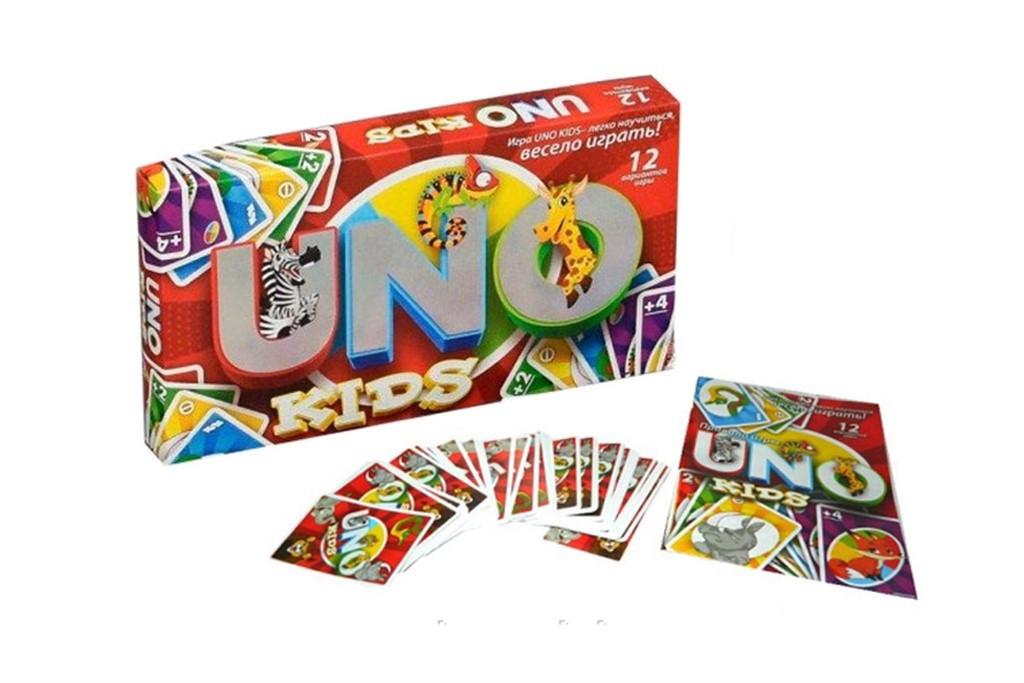"""Настольная Игра """"Uno Kids"""" Danko Toys Животные SP G11"""