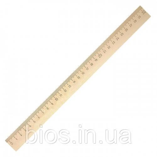 Лiнiйка 30см дерев'яна (шовкографія)