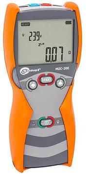 Сертифікований вимірювач параметрів кіл електроживлення будинків ( петля фаза-нуль) MZC-20EUA