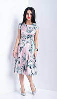 Красивое женской платье. Ткань шелк армани.  Размеры 44-52
