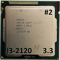 Процессор ЛОТ#2 Intel Core i3-2120 SR05Y 3.3GHz 3M Cache Socket 1155 Б/У, фото 1