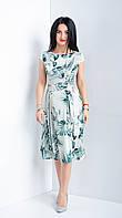Шелковое женское платье за колено.  Размеры 44-52