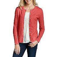 Кардиган женский Eddie Bauer Womens Christine Cardigan Sweater Solid HTR CORAL