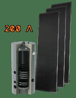 Комплект cолнечного коллектора плоского SK-2S на 200 литров